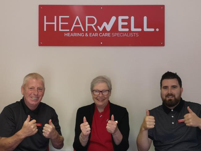 The Hearing Team, Clive Williams, Marilyn Cook and Kieran Williams