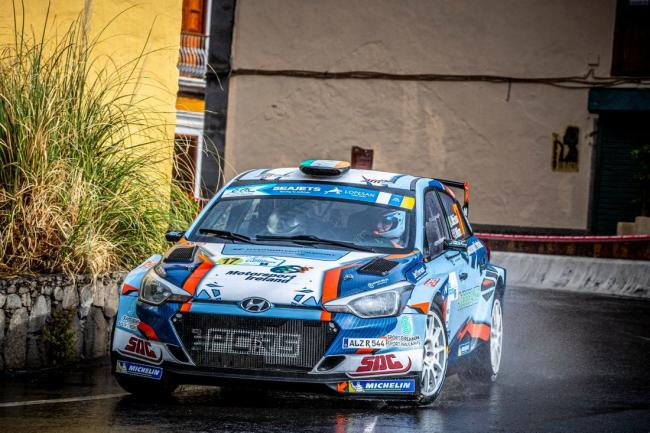 Josh McErlean and Keaton Williams in action in the ACI Rally Monza in their Hyundai i20 R5. Picture: Paul Mitchell