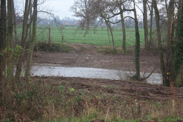 Hereford Times: The river Lugg's bank has been bulldozed, Herefordshire Wildlife Trust says