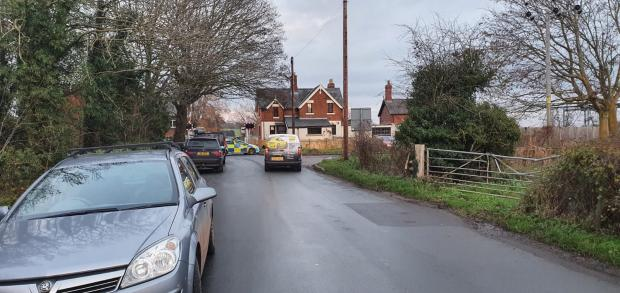 Hereford Times: West Mercia Police is at the scene