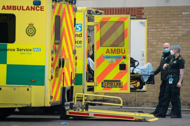 Hereford Times: A patient arrives at Southend University hospital in Essex. Picture: Joe Giddens/PA Wire