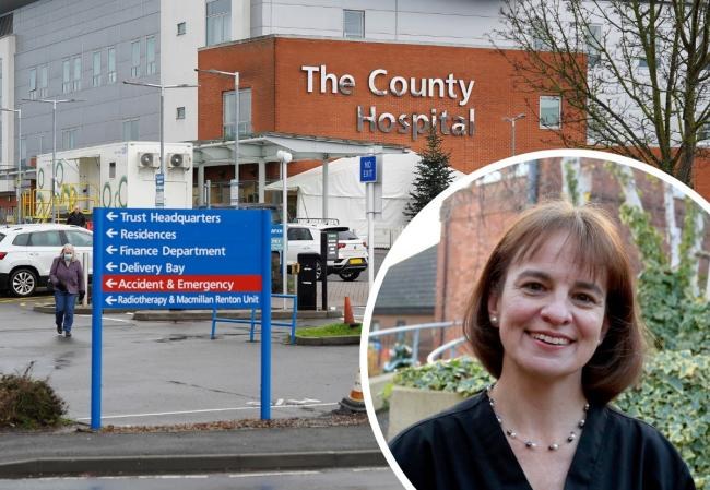 Ingrid Du Rand, a respiratory consultant at Hereford County Hospital, became unwell after catching coronavirus