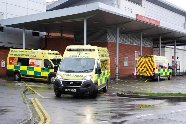 More than 10 patients have waited more than an hour after arriving at Hereford County Hospital A&E by ambulance. Picture: Rob Davies