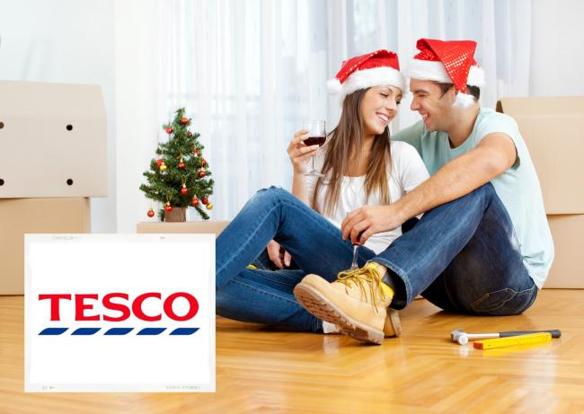 Tesco Christmas gift card