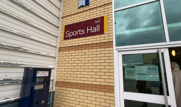 Hereford Times: Leominster's Bridge Street Sports Centre is being used a Covid-19 vaccine centre
