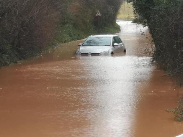 Hereford Times: Flooding at Lower Bullingham, Hereford. Picture: Steve Niblett