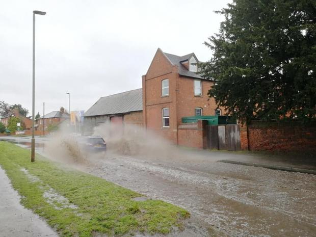 Hereford Times: Flooding on Holme Lacy Road. Photo: Stuart Townsend