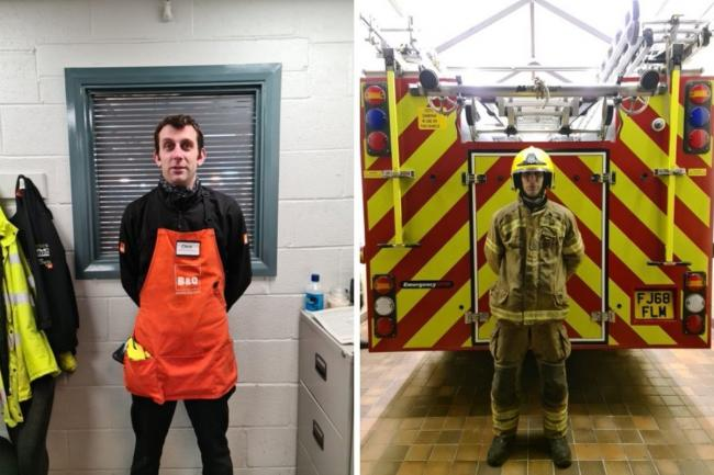 Chris Cox is an on-call firefighter in Herefordshire