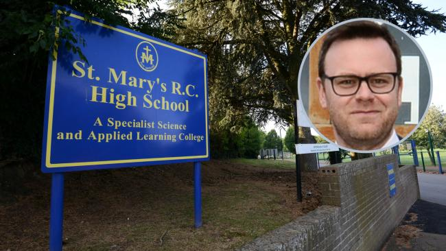 Headteacher Stuart Wetson said St Mary's is a Catholic school and their relationships and sex education policy is inspired by religious teachings of the Roman Catholic faith.
