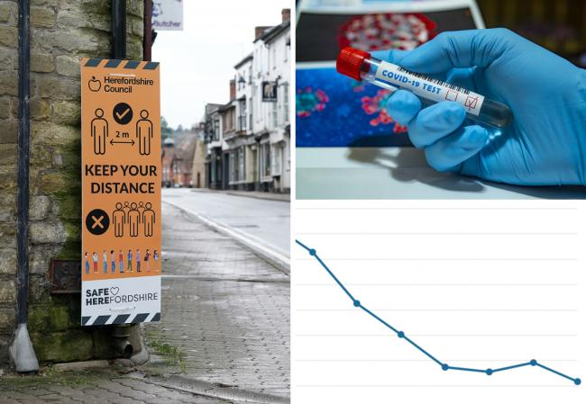 Herefordshire's coronavirus infection rate has fallen. Pictures: Rob Davies/PA Wire
