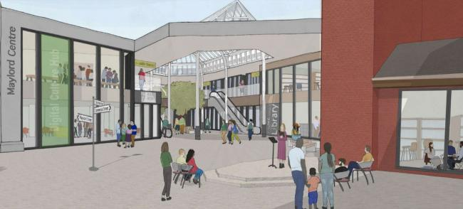 The Stronger Hereford board's proposals include a striking library at Maylord Shopping Centre, which was recently taken back over by Herefordshire Council in a £4.5 million deal.