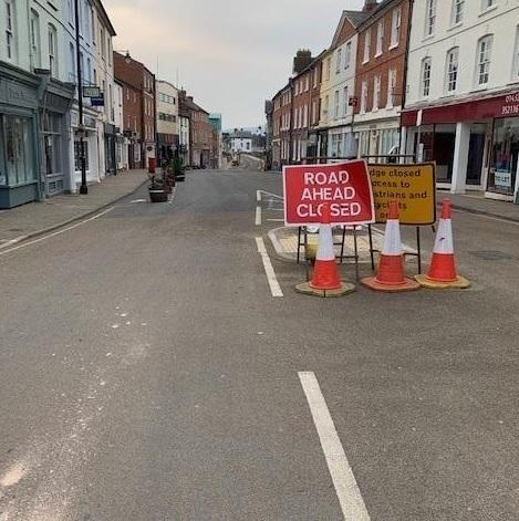 Bridge Street has been closed to traffic for many months
