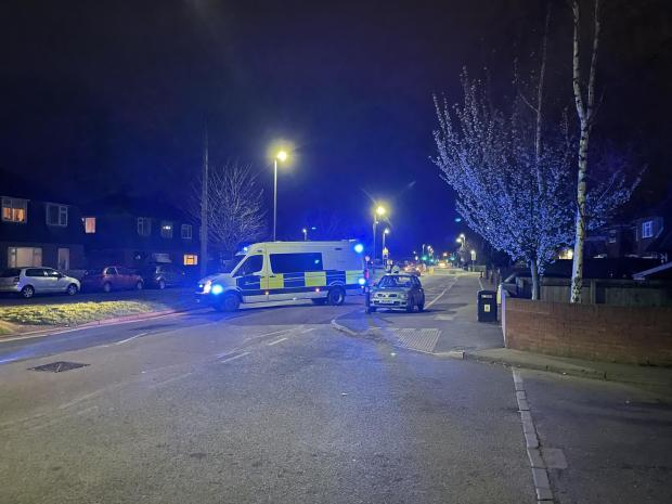 Hereford Times: A police van parked across Holme Lacy Road near the Co-op