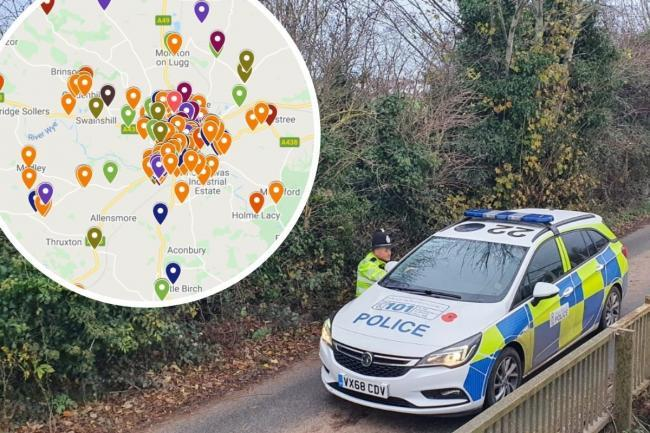 Latest Herefordshire crime map: is your area a criminal hotspot?