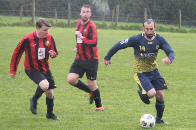 Hinton ran out 3-1 victors over Holme Lacy. Picture: Barcud-Coch Photography
