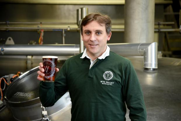 Hereford Times: Wye Valley Brewery managing director Vernon Amor