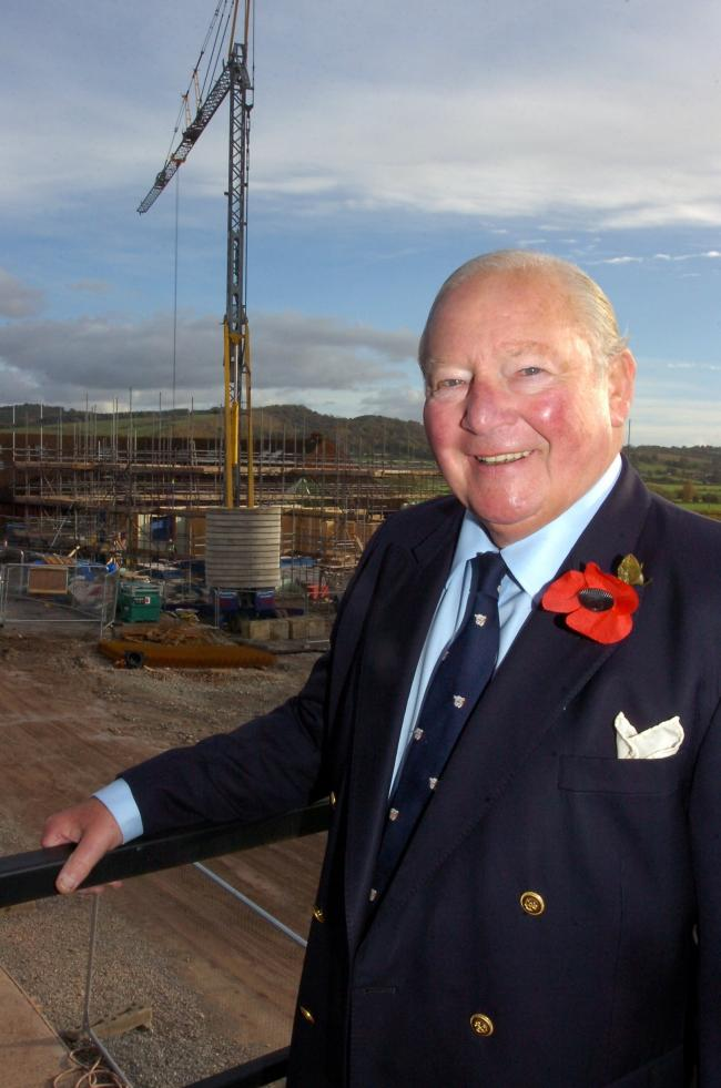 Clive Richards £1million towards the development of St. Michael's Hospice.