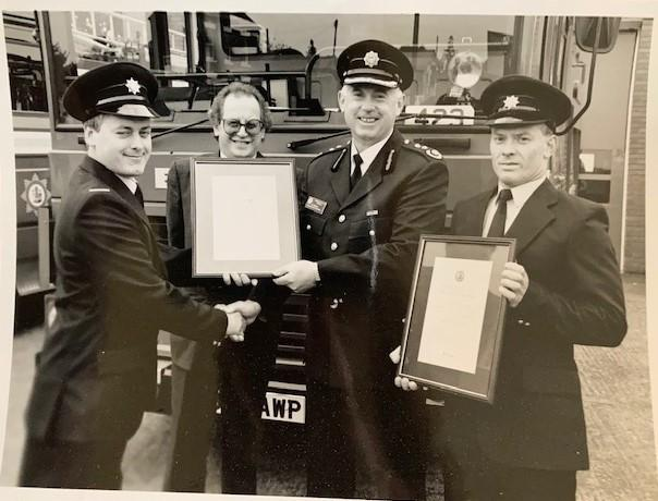 Hereford Times: Bryan Jenkins received a bravery award while he was a reserve at Ledbury fire station