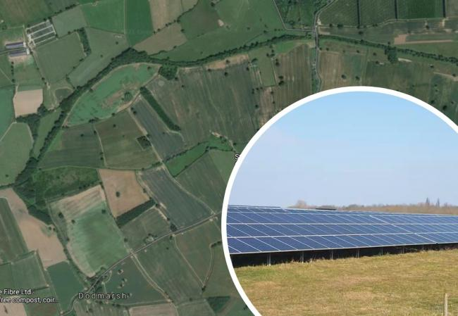 Plans have revealed some of the details of a proposed new solar farm in Westhide, near Hereford. Main picture: Google
