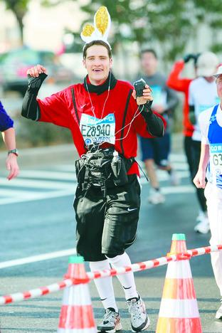 Former Orcop resident Joseph Tame, who broadcast his Tokyo Marathon efforts across the globe.