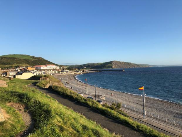 Hereford Times: The view of one of Aberystwyth's beaches from Constitution Hill