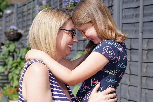Hereford Times: Ava Bailey and her mum Becky at their Hereford home. Picture: Rob Davies