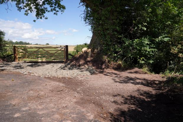 Hereford Times: The resurfaced road ends at a driveway to one holiday home and a public bridleway. Picture: Rob Davies