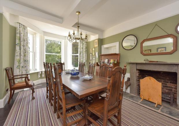 Hereford Times: An eight-bed house with several outbuildings in Dilwyn has hit the market.  Photo: Knight Frank / Zoopla