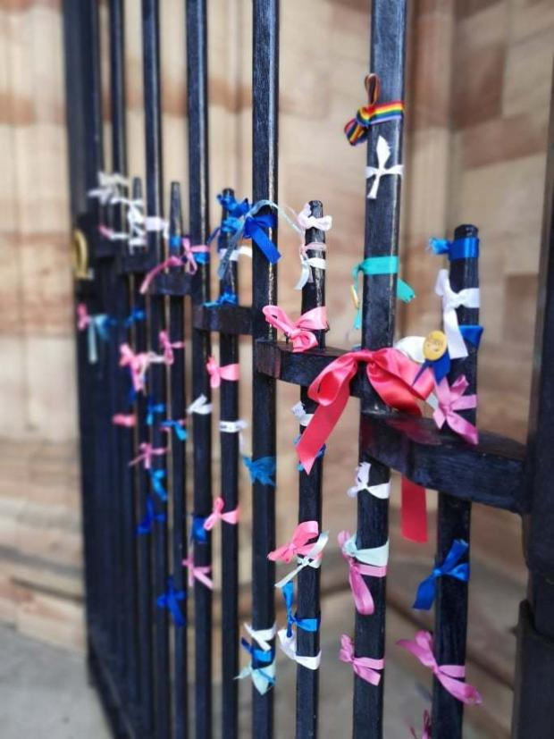 Hereford Times: People will tie ribbons around the west doors of the Hereford Cathedral