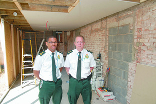 Nick Henry (left), West Mercia general manager for West Midlands Ambulance Service, and Lee Hutchinson, group station manager, at the Hereford station.