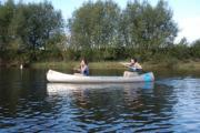 Paddle a canoe down the Wye