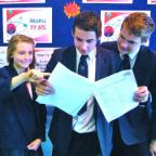 Hereford Times: Katie Lloyd, Mark Olive and Jack Muirhead take a looks at Ofsted's report at Queen Elizabeth Humanities College in Bromyard.