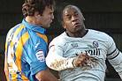 Hereford United captain Delroy Facey and Shrewsbury Town captain Ian Sharps.