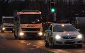 Hereford Times: Bomb disposal leave Tesco's Belmont.