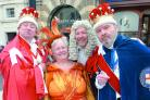 Members of Hereford G&S Society give a High Town preview of Iolanthe.