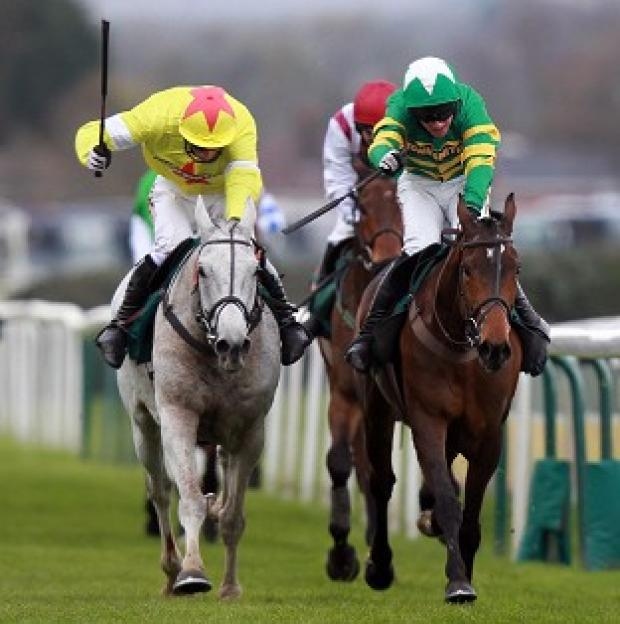 It's a desperately close call as the grey Neptune Collonges gets up