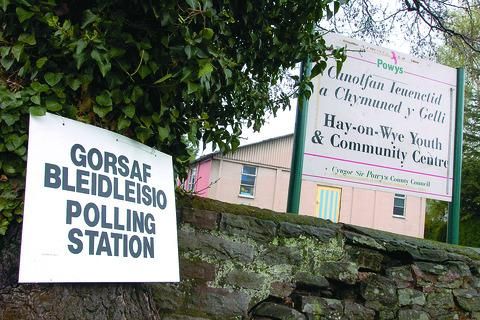Voters in Hay-on-Wye went to the polls on May 3