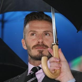 David Beckham during the official handover ceremony of the Olympic Flame at the Panathenaic Stadium, home of the 1896 Athens Games
