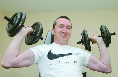Fitness fanatic Ged Musto goes through his training regime
