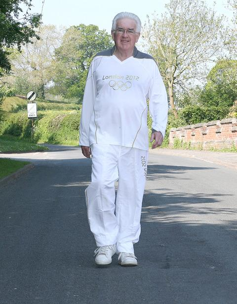 Torchbearer Bryan White will carry the flame through Leominster