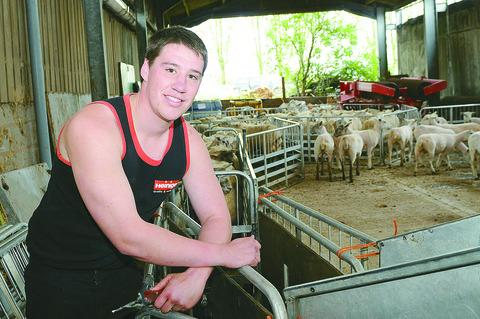 Chris Rowberry competed in the sheep shearing competition