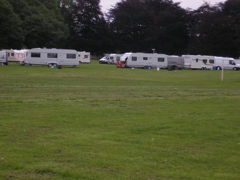 Travellers have set up camp on King George V playing fields, Hereford