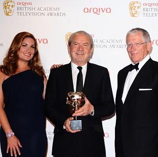 Karren Brady, Lord Sugar and Nick Hewer, stars of The Apprentice