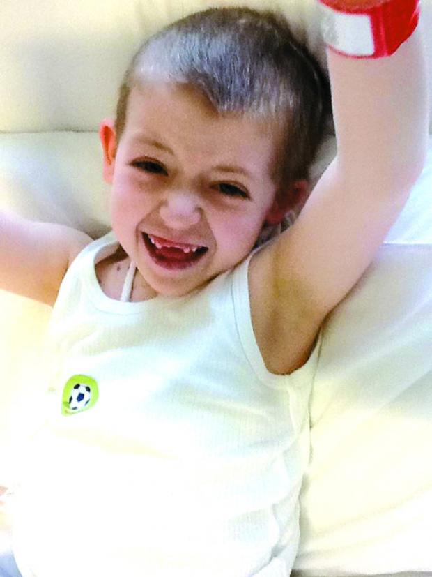 "Eight-year-old James Byard-Hunt has shown ""unbelievable strength"""