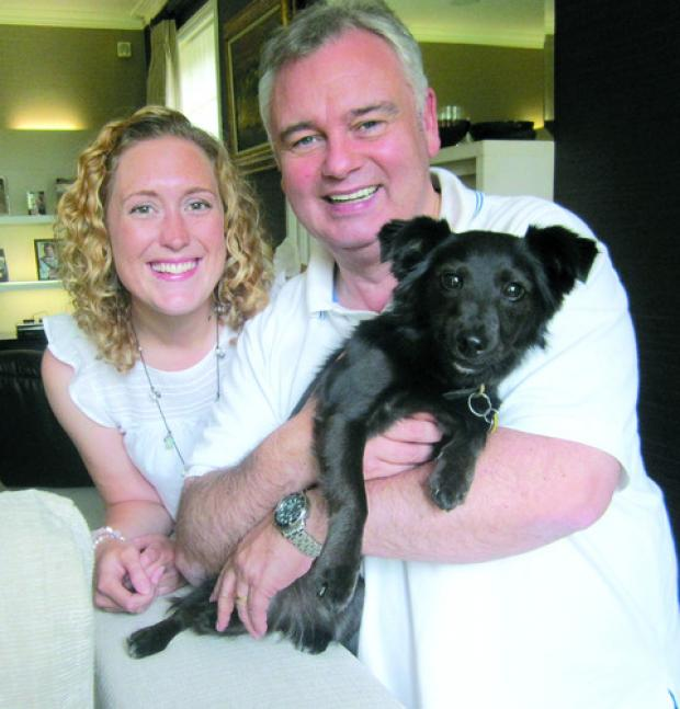 Gemma Blackwell with Eamonn Holmes and Maggie the dog
