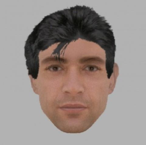 An E-fit picture released by the police of a man they wish to speak to in relation to a burglary in Hereford.