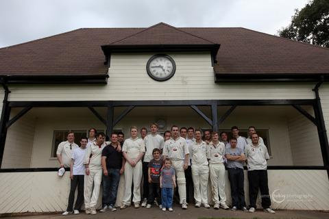 The cricketers that helped raise £761 for St Michael's Hospice