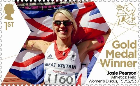 Royal Mail has produced a Josie Pearson Gold Medal stamp