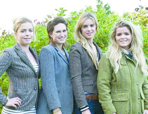 Calendar organiser Zoe Hooper (second left) alongside Rich's sisters (from left) Hannah Warr, Gemma Thomas and Verity Warr