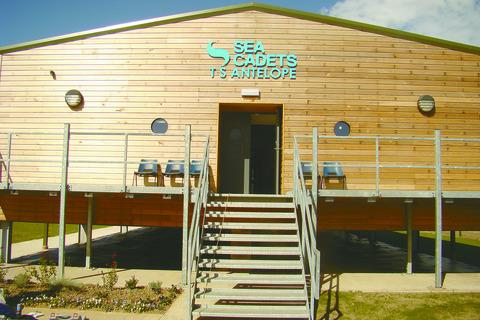 The new Sea Cadets building in Wyeside